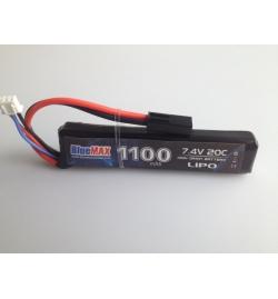 Batterie Lipo 7,4V 1100mAh 20C mini tamya (STICK) - BLUE MAX