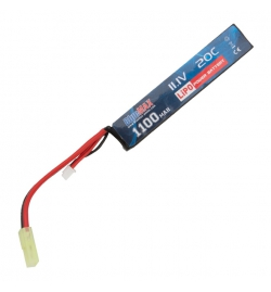 Batterie Lipo 11,1V 1100mAh 20C mini tamya (STICK) - BLUE MAX