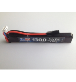 Batterie Lipo 7,4V 1300mAh 20C mini tamya (STICK) - BLUE MAX