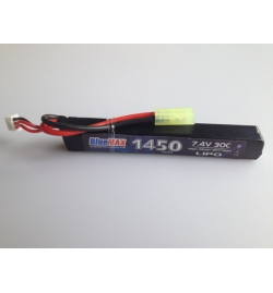 Batterie Lipo 7,4V 1450mAh 30C mini tamya (STICK) - BLUE MAX