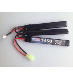 Batterie Lipo 11,1V 1450mAh 30C mini tamya (NUNCHUCK X3) - BLUE MAX