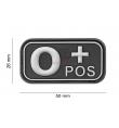 Patch PVC groupe sanguin O+ NOIR - JTG