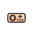 Patch PVC groupe sanguin O+ TAN - JTG