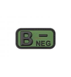 Patch PVC groupe sanguin B- OD - JTG