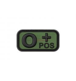 Patch PVC groupe sanguin O+ OD - JTG