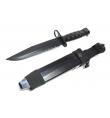 Couteau de ceinture noir + holster - S&T