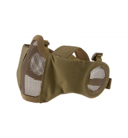 Masque grillagé avec protection oreilles Tan EVO PLUS - ULTIMATE TACTICAL