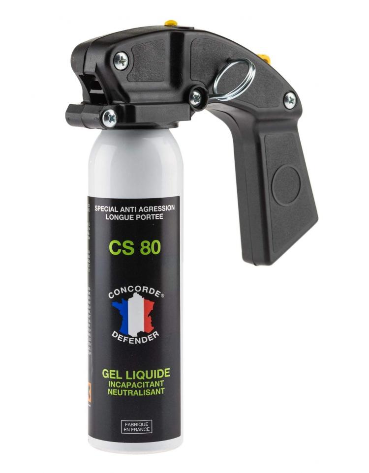 Aérosol GEL CS 80 100 ml avec poignée - CONCORDE DEFENDER