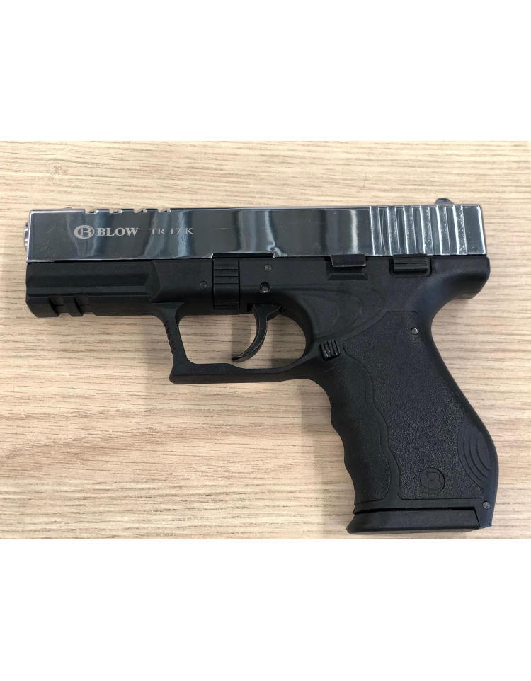 TR17K noir/chromé 9mm balle à blanc - BBLOW
