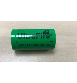 Pile (X1) rechargeable 1000 mAh CR123A 3,V