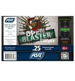 Billes BIO 0,25gr en biberon de 3300 billes - OPEN BLASTER ASG