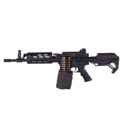 LMG courte Machine Gun Full Métal AEG 1.4J - GOLDEN EAGLE