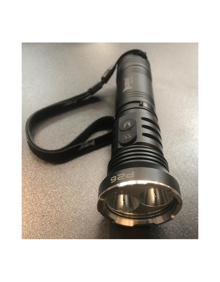 Lampe LED P26 500 lumens et UV 365nm/2W - WUBEN