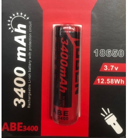Pile 18650 rechargeable 3400mAh  3,7V - WUBEN