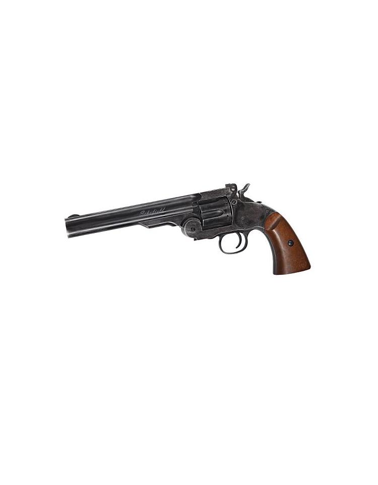 "Revolver 4,5mm Co2 SCHOFIELD 6"" noir 2,9 joule - ASG"