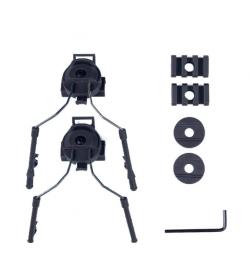 Ensemble d'adaptateur de rail de casque pour casque EARMOR/COMTAC I /COMTAC II - EARMOR