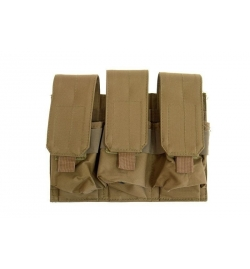 Triple Poches chargeurs type M4/M16 tan - GFC