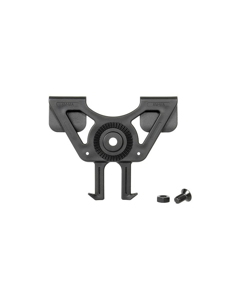 Fixation Système d'Attache Molle noir Pour Holster Etui Rigide - AMOMAX