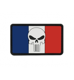 Patch PVC drapeau france PUNISHER