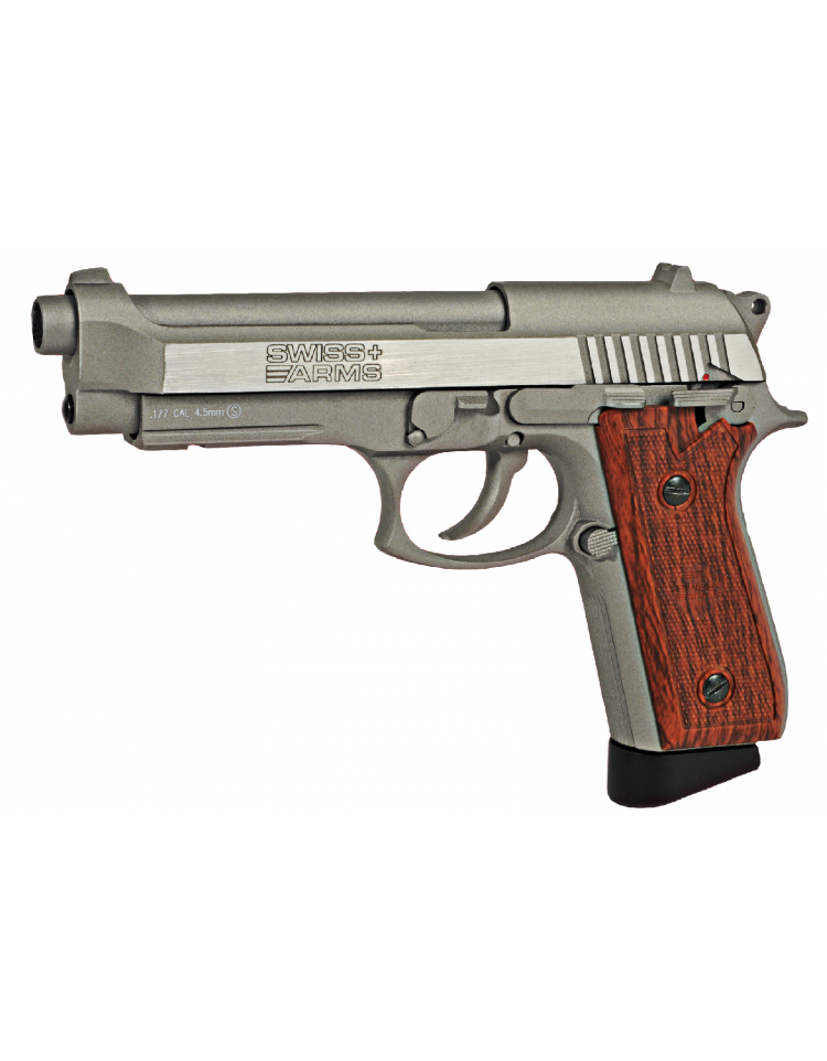 AIRGUN SA P92 STAINLESS 4,5 mm Blowback 1,6 joule - SWISS ARMS