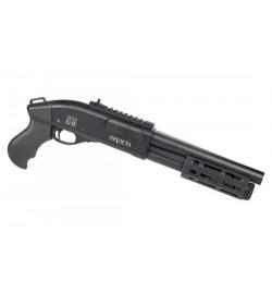 Fusil à pompe à gaz VELITES INVICTA G-II noir 3/6 billes - SECUTOR