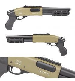 Fusil à pompe à gaz VELITES INVICTA G-II tan 3/6 billes - SECUTOR