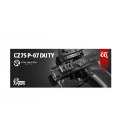 AIRGUN CZ75 P-07 duty Blowback 2,1 joule - ASG