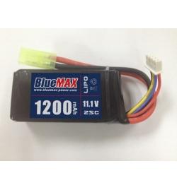 Batterie Lipo 11,1V 1200mAh 20C mini tamya (mini brick/ PEQ) - BLUE MAX