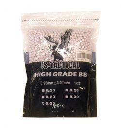 Billes 0,25gr en sachet de 1 kg (4000 billes) - JS-TACTICAL