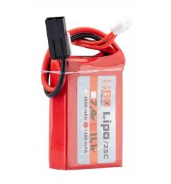 Batterie Graphene 2S 7.4V 1300mAh 70C - BO MANUFACTURE