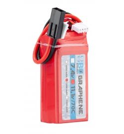 Batterie Graphene 11,1V 1300mAh 70C - BO MANUFACTURE
