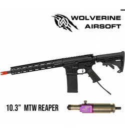 "M4 MTW with REAPER Engine and Standard Stock, 10.3"" Barrel, 10""Rail - WOLVERINE AIRSOFT"