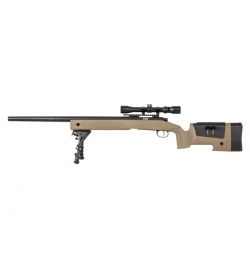 Sniper SA-S02 CORE Tan avec lunette 3-9x40/ bipied /3 chargeurs - SPECNA ARMS
