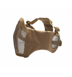 Masque grillagé avec protection oreilles Tan  - STRIKE SYSTEMS