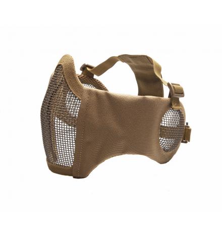 Masque grillagé avec protection oreilles Tan  - STRIKE SYSTEMS
