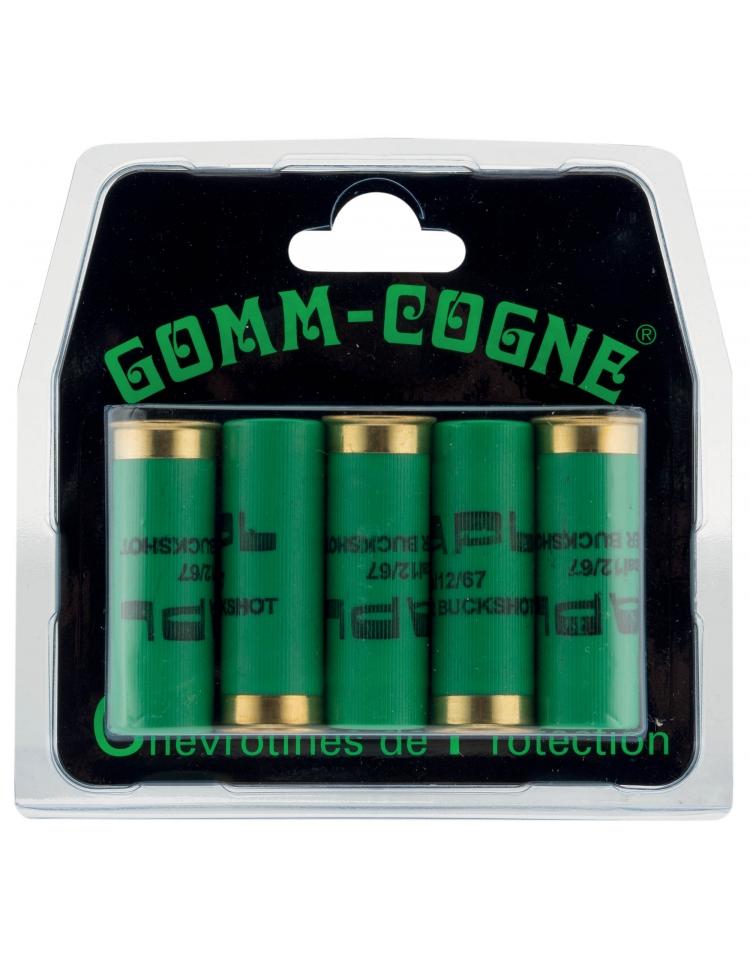 Billes de chevrotines en caoutchouc de protection calibre 12/67 - Gomm-Cogne