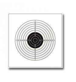Cible papier 14x14cm x100 - SHOOT AGAIN