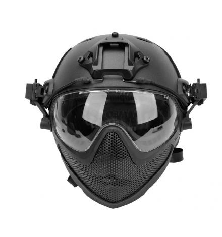 Masque et casque complet noir - DELTA TACTICS