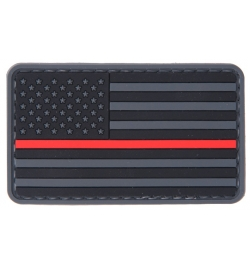 "Patch PVC ""Drapeau USA Red line"" - LANCER TACTICAL"