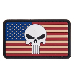 "Patch PVC ""Drapeau USA Skull"" - LANCER TACTICAL"