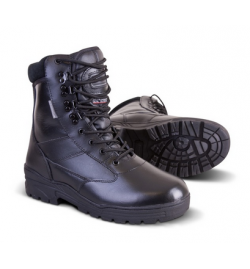 Chaussures/botte Patrol All Leather Noir - KOMBAT.UK