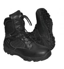 Chaussures/bottes Delta Force Tactical avec Zip Noir - COMMANDO