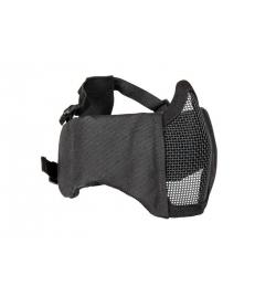 Masque grillagé avec protection oreilles NOIR  - ULTIMATE TACTICAL