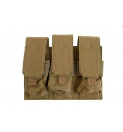 Triple Poches chargeurs type M4/M16 - TAN