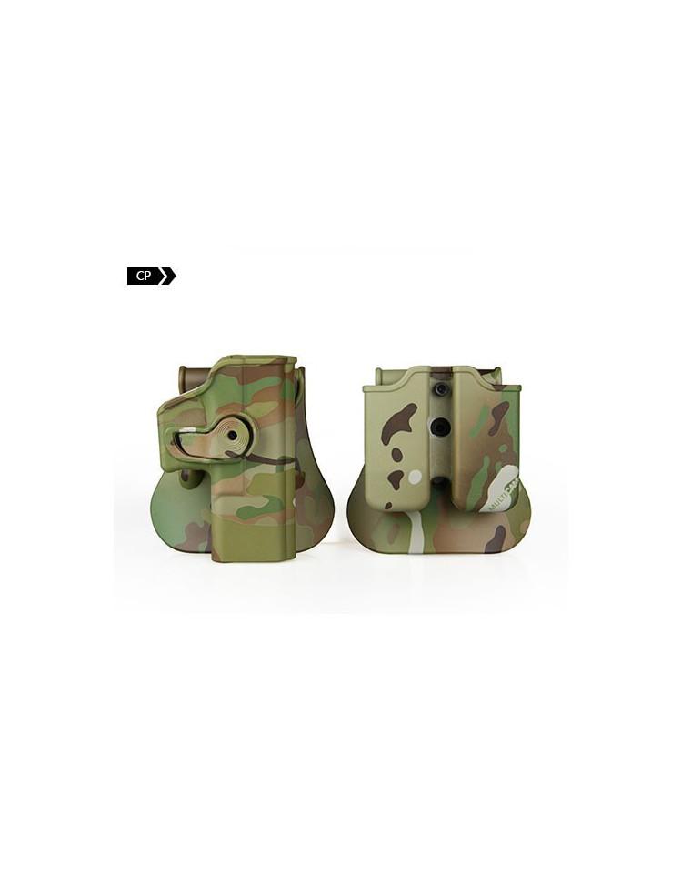 HOLSTER pour Glock 17 - Noir - Droite - IMI
