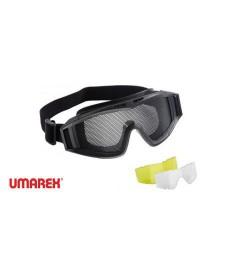 Masque grillagé Noir avec verre de rechange - UMAREX