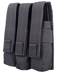 Triple Poches chargeurs MP5 Noir - GFC