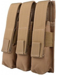 Triple Poches chargeurs MP5 TAN - GFC