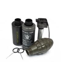 Pack Complet Grenade CO2 Hakkotsu - Detonateur + Cuillere + Goupilles + 3 Coques Original