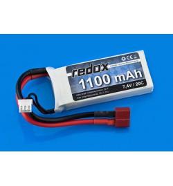 Redox LiPo 1100 mAh 7,4V 20C battery